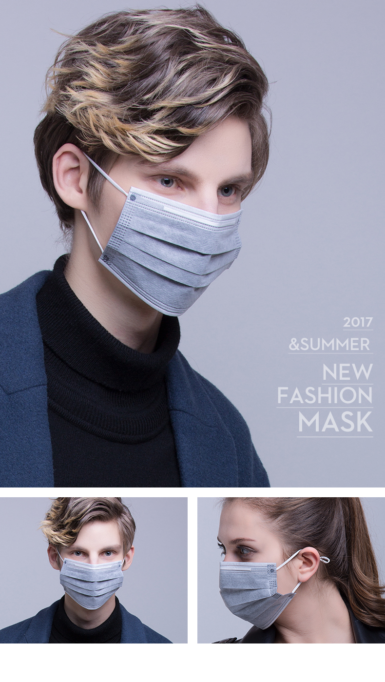 Shade Black Face Mask Disposable Dustproof Breathable Summer Thin Section  Sun-resistant Goddess Fashion Korean Style Activated Carbon Fashion