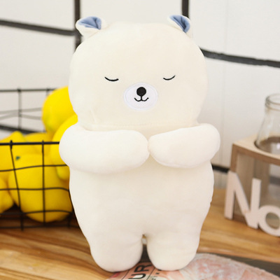 Soft cute cat white bear doll plush toy sleeping pillow long strip pillow cushion back doll doll doll