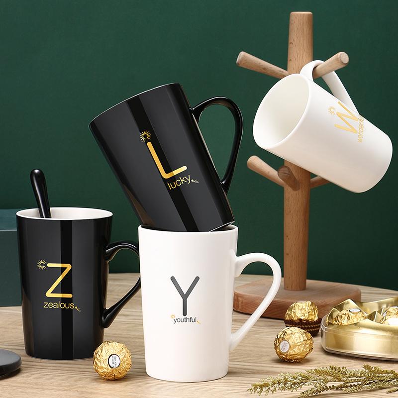 【正常发货】马克杯创意定制字母杯陶瓷杯