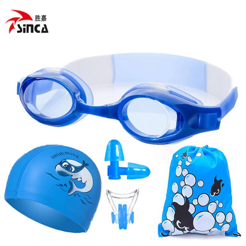 021660f7789 Вода злато професионални детски плувни очила водоустойчив анти - мъгла HD  момчета и момичета деца плуване очила плувен капачка набор