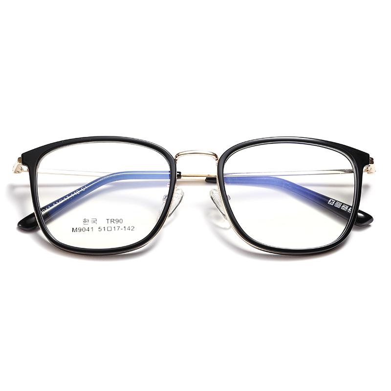 防蓝光抗辐射电脑眼镜男平光黑框素颜网红款近视眼镜框女显脸小