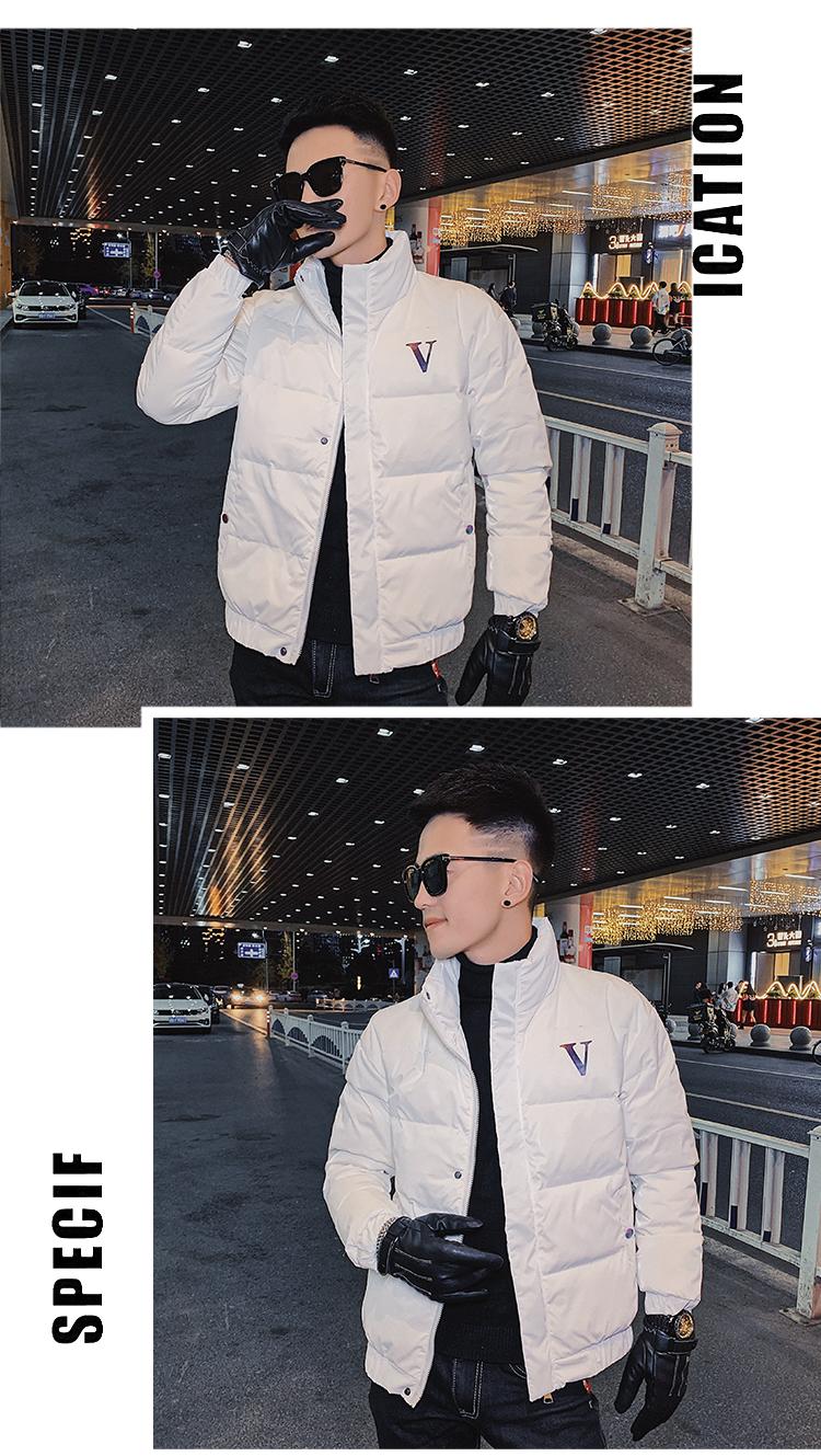 2020 winter clothing new collar Korean version of the trend slim down jacket men's tide short bright down jacket to keep warm 38 Online shopping Bangladesh