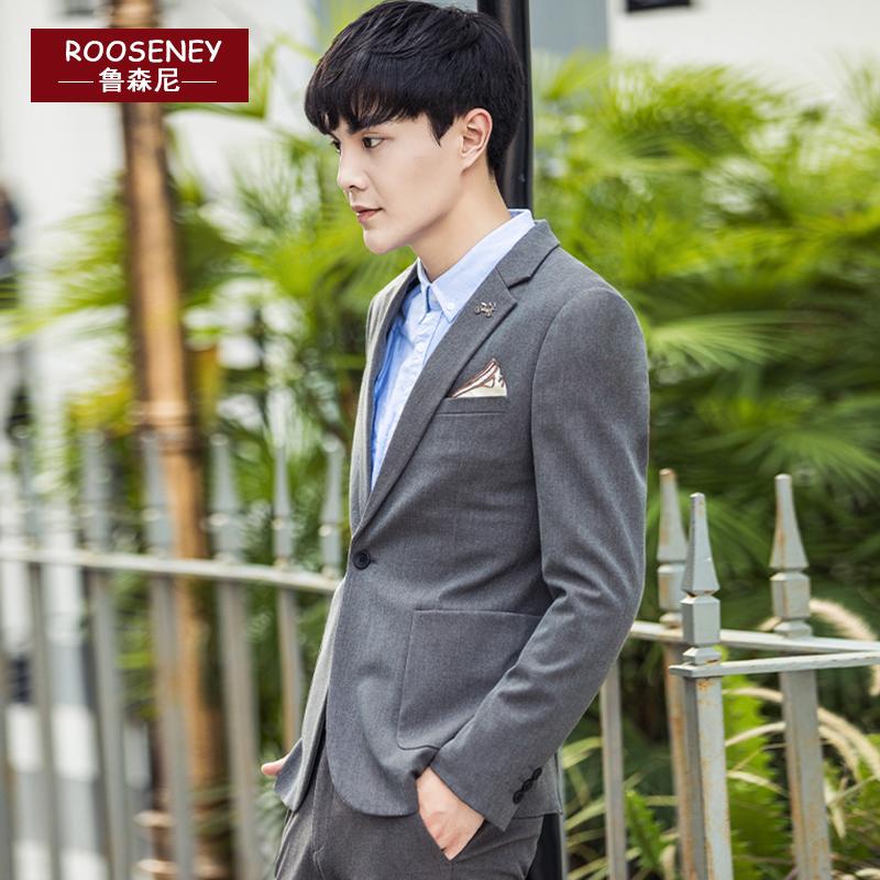 2017秋季休闲西服男修身帅气青年韩版小西装男士外套潮流单件上衣