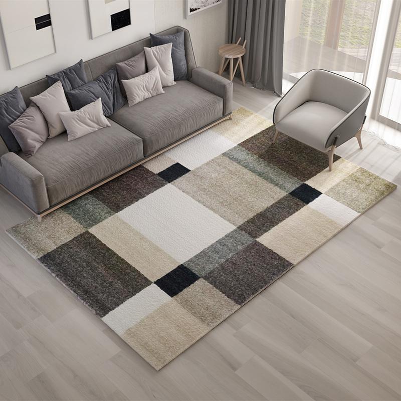 Fra mega Nordisk minimalistisk stil teppe stue moderne geometrisk sofa BH-13