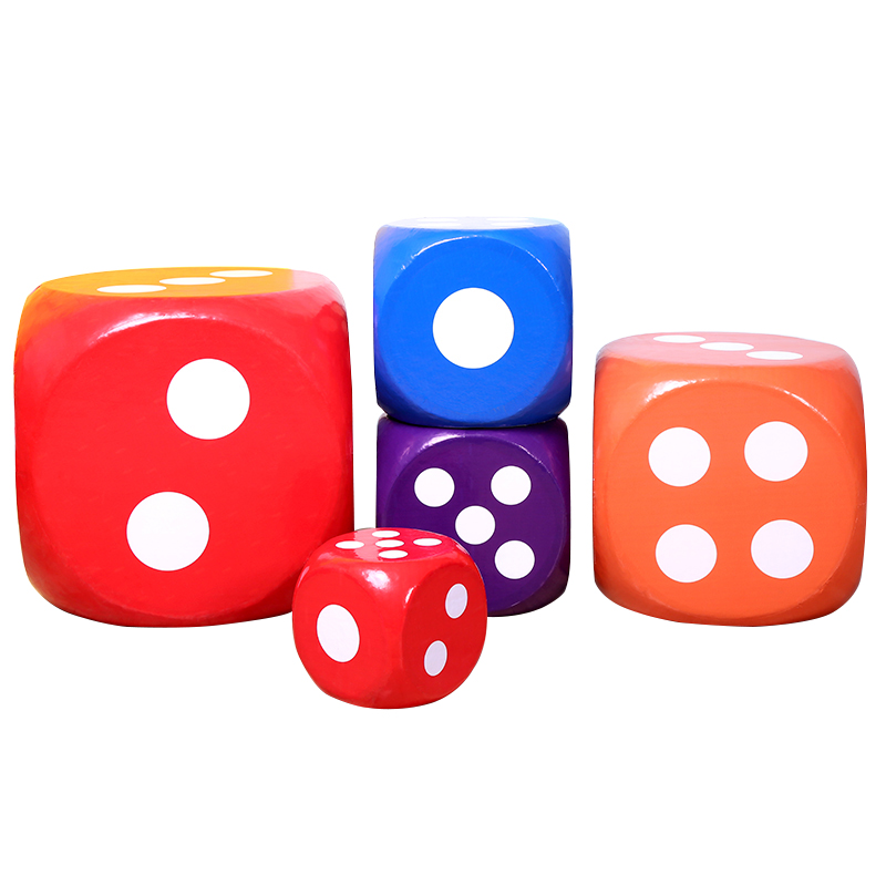 泡沫色子骰子大号活动促销游戏道具筛子大码塞子教具超市商场抽奖