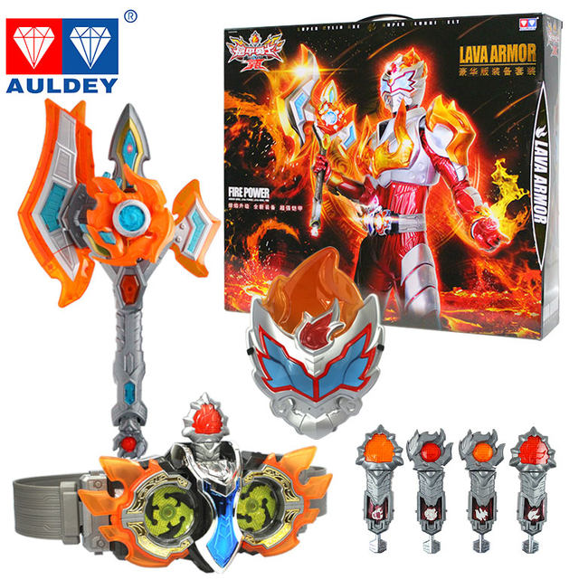 Genuine armor warrior navar toy super melting sword weapon super flame navar summoning belt set