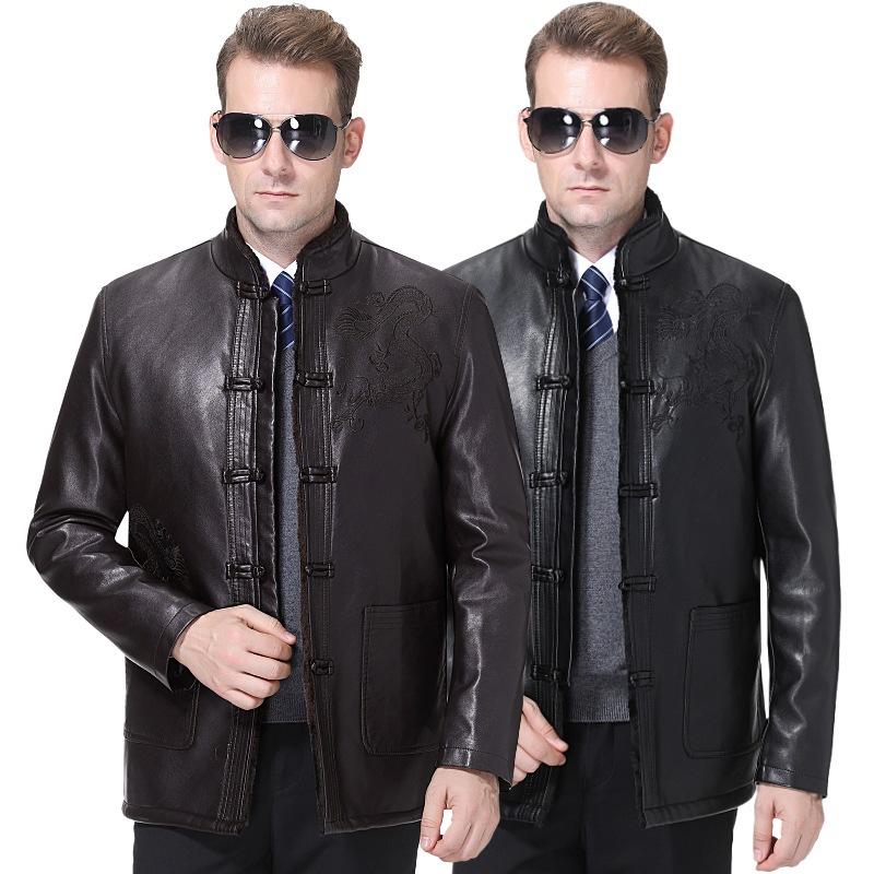 2020冬季新款皮衣绵羊皮外套立领加绒皮毛一体a皮衣男士