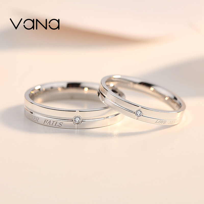6152244fd1 vana sterling silver couple ring a pair of men and women Simple Network red  niche design ...