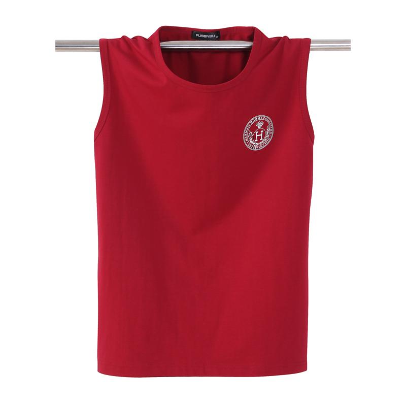 Thể thao mùa hè vest nam vest kích thước lớn cotton lỏng tay T-Shirt stretch thở mỏng rộng vai mồ hôi vest