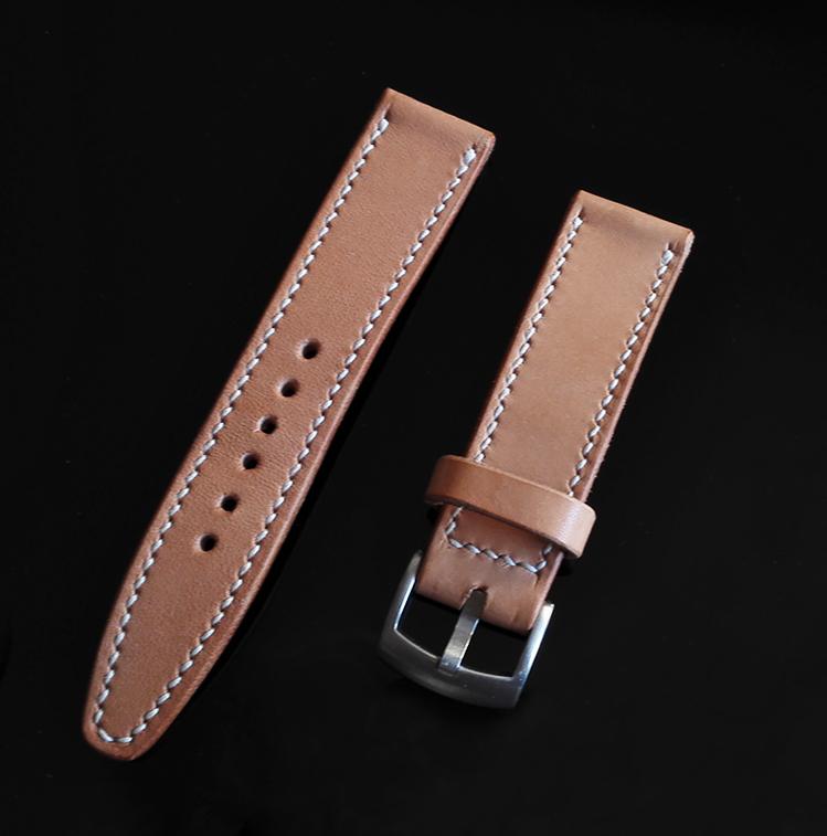 纯手工定制牛皮表带  适合所有型号手表 多色可选 可做旧