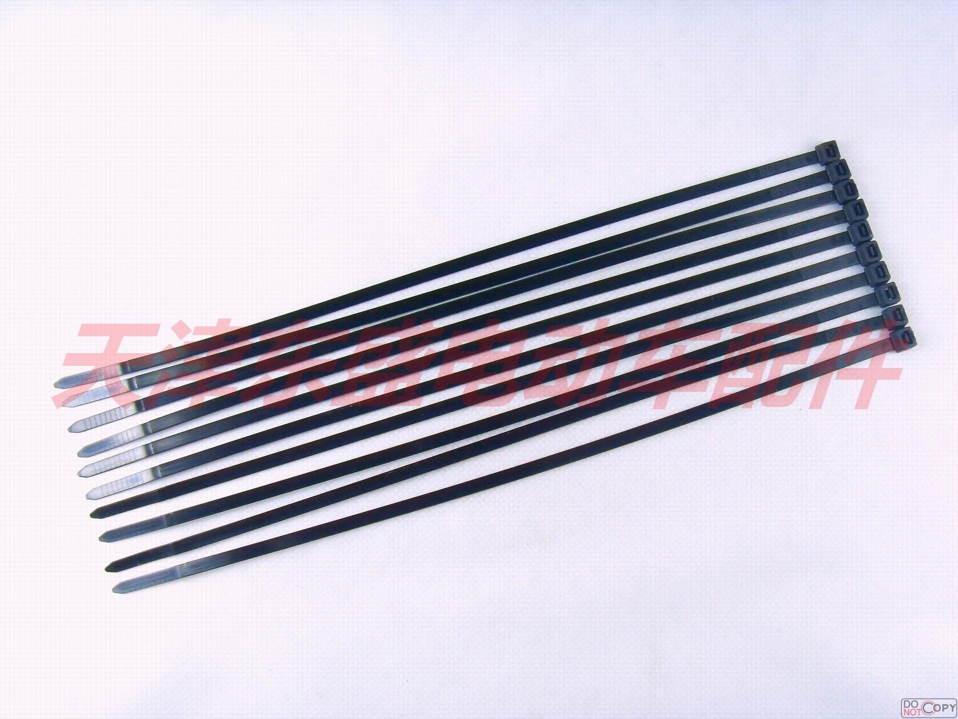 Электрические аксессуары для автомобилей 3,8 × 300 мм черный Нейлоновая кабельная стяжка 10