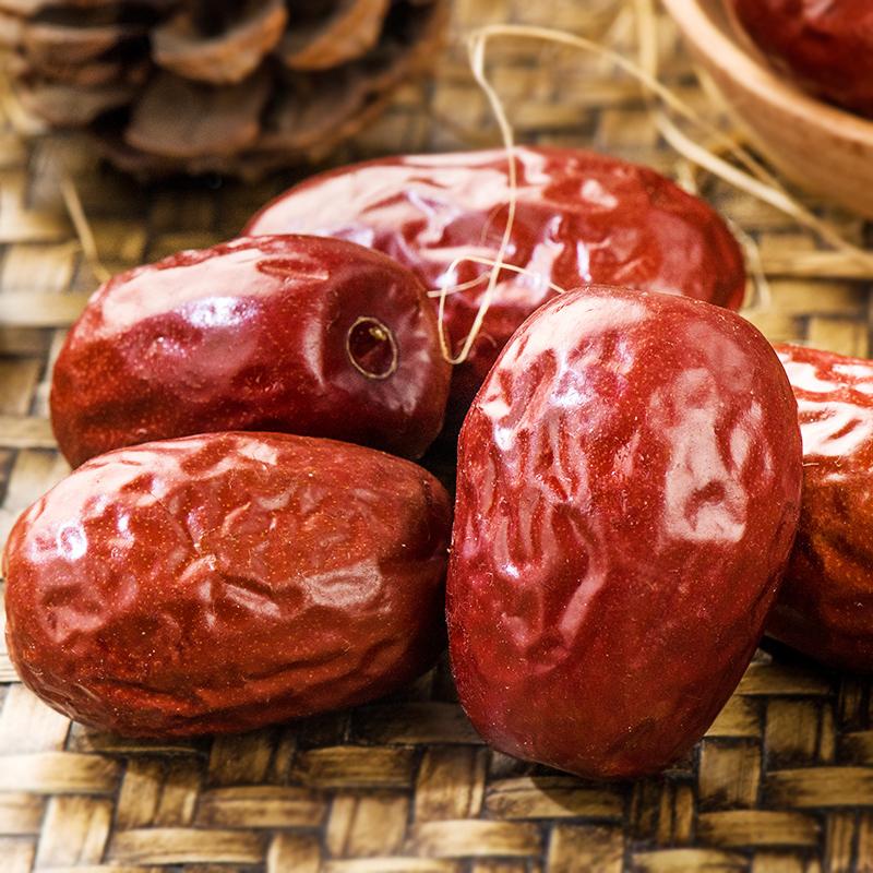 坚果码头红枣500g×3袋正宗新疆特产和田骏枣若羌灰枣大枣零食