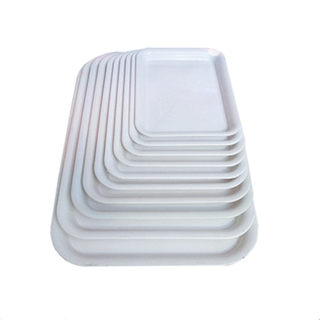 Plastic white tray Rectangle white red water tray holder chassis Anti-leakage flower pots Large tray base