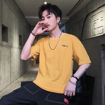 夏季新款短袖男士t恤韩版宽松网红ins