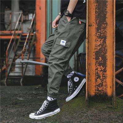 韩版潮流春季小脚运动型工装裤男