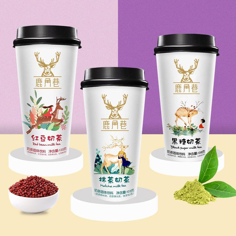 速溶、日期新鲜:椰汁岛 鹿角巷系列奶茶 138gx4杯