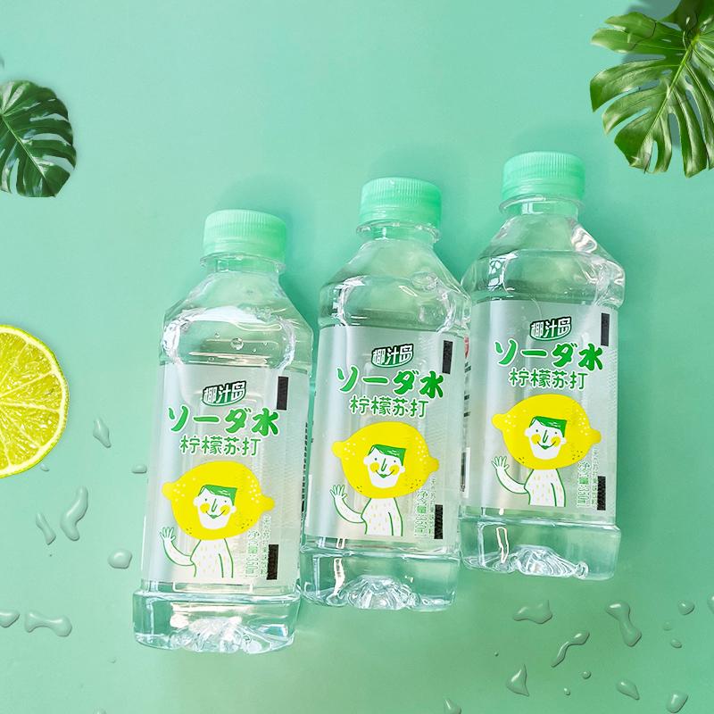 【椰汁岛】柠檬苏打水350ml*12瓶