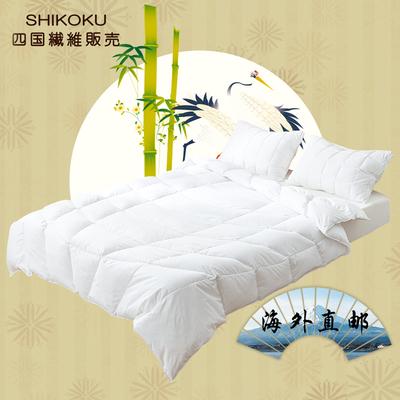 SHIKOKU日本90白鵝絨純棉面料輕薄空調房五星級酒店單雙人夏涼被