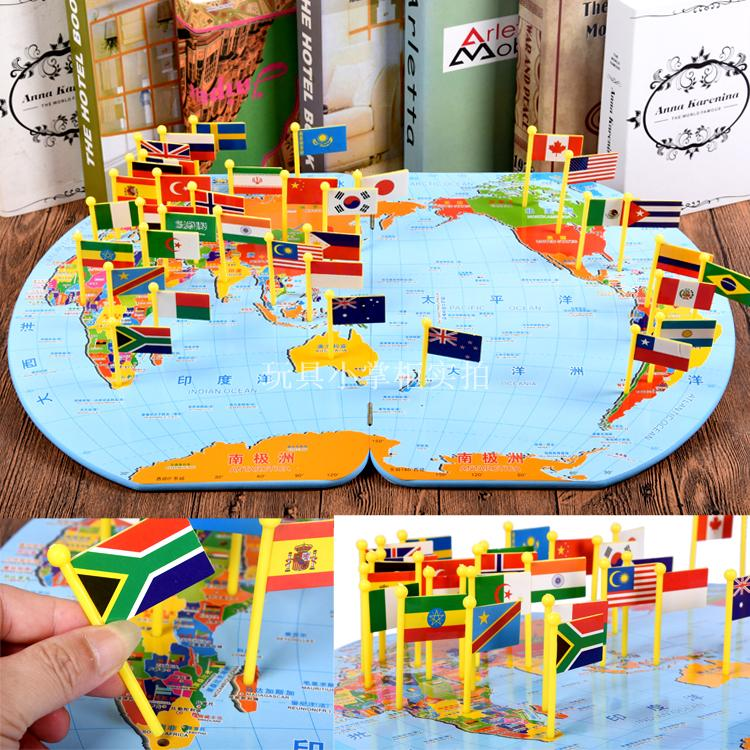 Usd 3189 world map interpolation flag table game parent child world map interpolation flag table game parent child interaction toys memory observation development focus training gumiabroncs Gallery