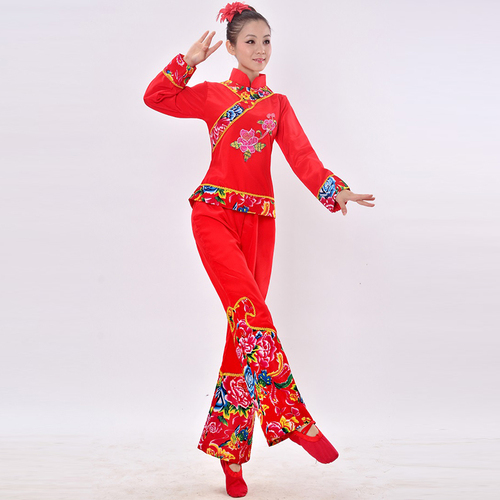 Chinese folk dance dress for women Yangge Dance Dance Dance suit for middle aged and elderly people