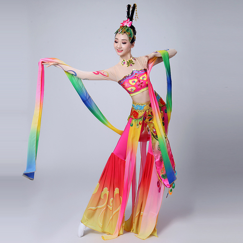 Chinese folk dance dress for women Dunhuang Flying Dance Costume Chang'e flying to the moon classical national Pipa performance Costume