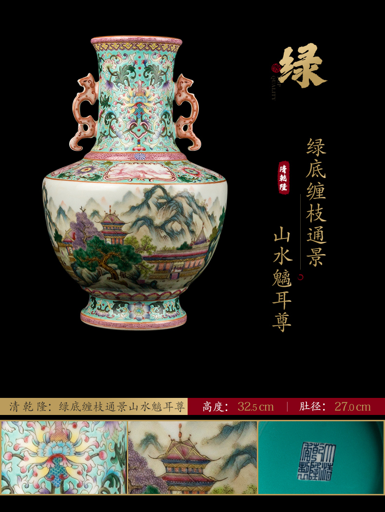 Ning hand - made antique vase seal up with jingdezhen porcelain furnishing articles sitting room of Chinese style of blue and white porcelain acura one hundred and twenty - eight period