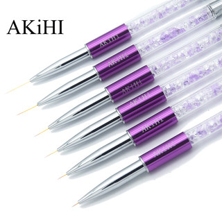 Akihi nail color painted rubber cable pen pen, ultra-fine painting line, pen painting flower hook, hook line small brush tool