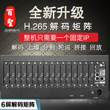 6-screen HDMI HD network matrix video digital monitoring 6-way decoding host to support Haikang University