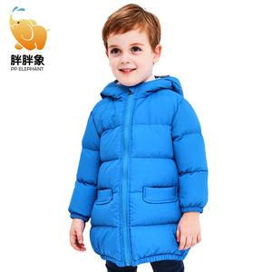 胖胖象童装儿童羽绒服中长款季羽绒外套