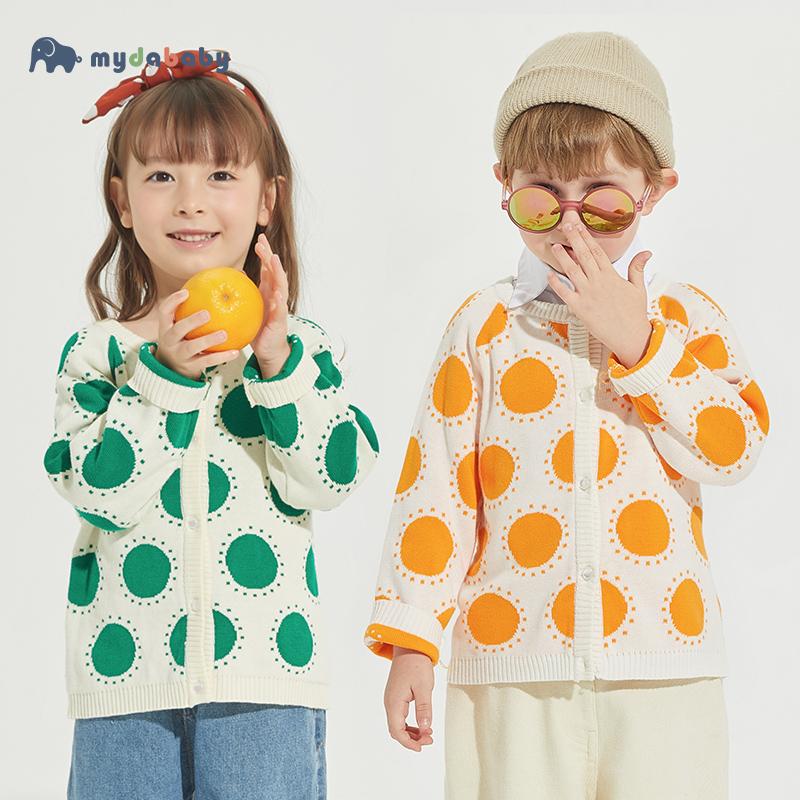 A类纯棉儿童针织衫开衫宝宝毛衣