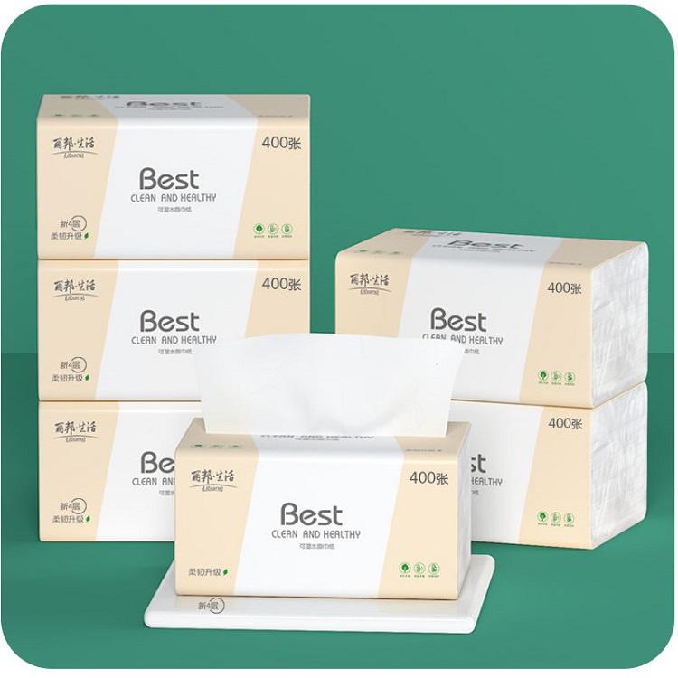 丽邦原木纸巾抽纸整箱餐巾纸卫生纸整箱餐巾