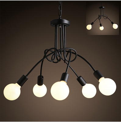American country modern Korean branch Nordic creative personality clothing shop living room bedroom led ceiling chandelier