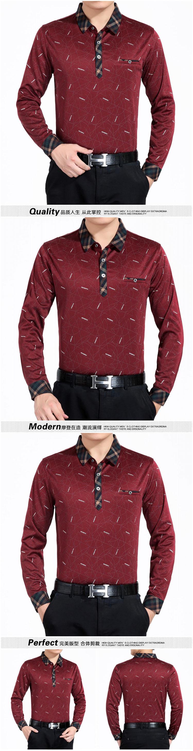 Trung niên và cũ băng lụa mỏng dài tay T-Shirt nam mùa hè lỏng đáy áo sơ mi trung niên bông ve áo áo sơ mi daddy áo thun trơn nam