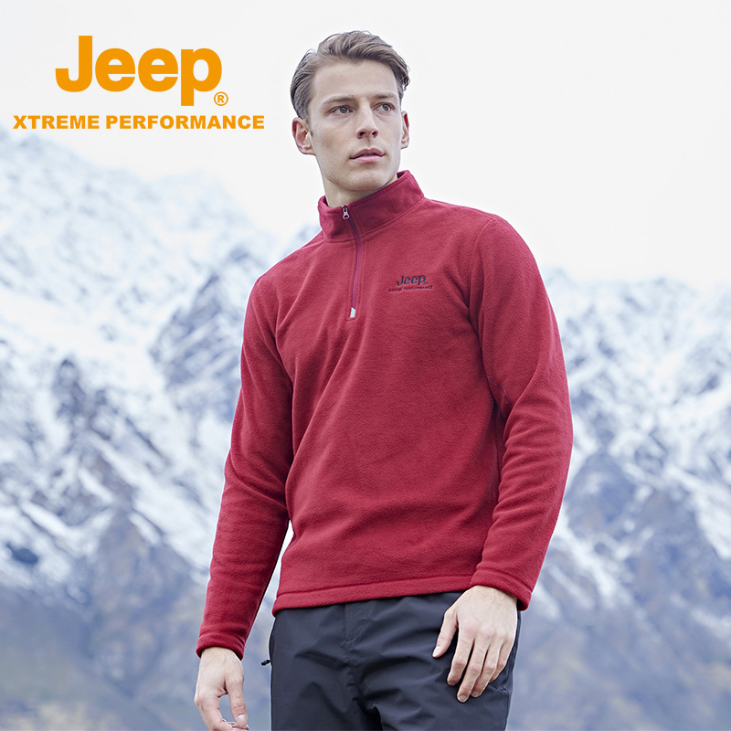 jeep flag shop official genuine jeep outdoor grab velvet jacket male rocking velvet plus velvet thick warm jacket