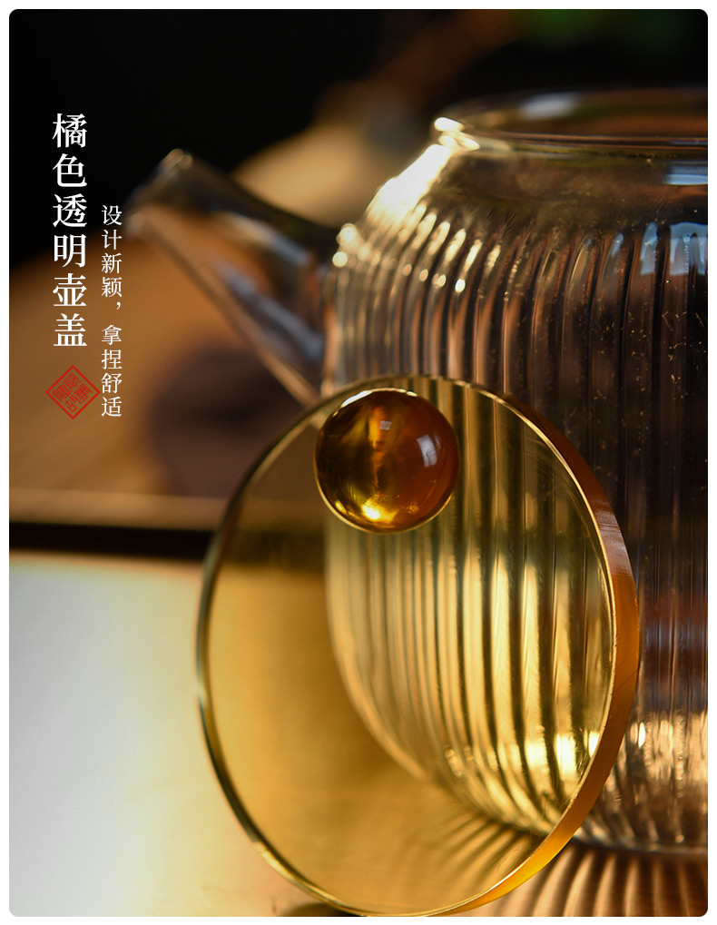 Ceramic story glass teapot high - temperature thickening web celebrity teapot tea separation Japanese flower teapot tea set