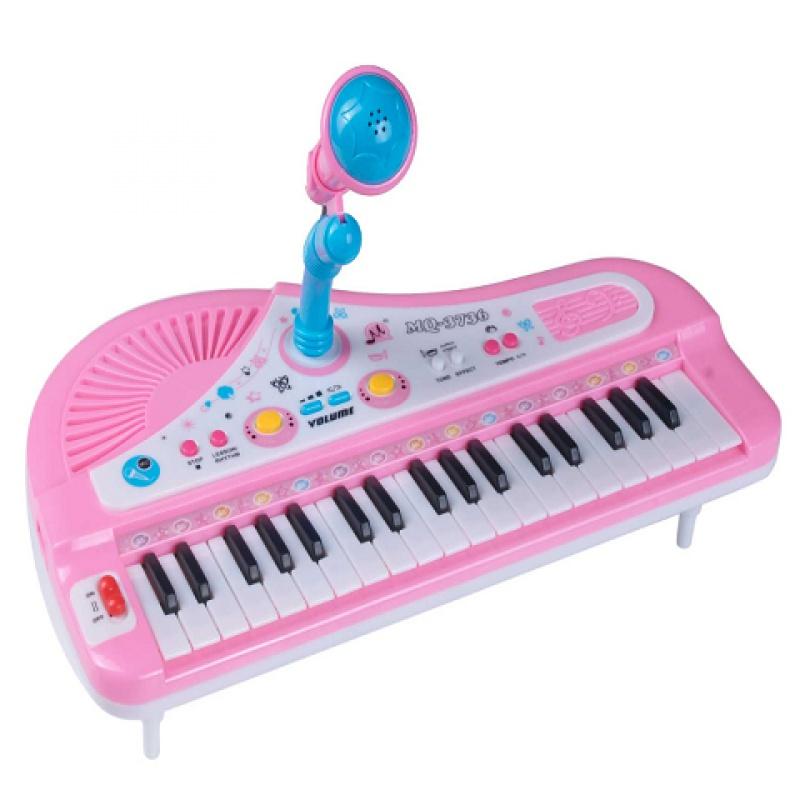 儿童电子琴37键带麦克风话筒正品电子钢琴宝宝益智多功能钢琴包邮