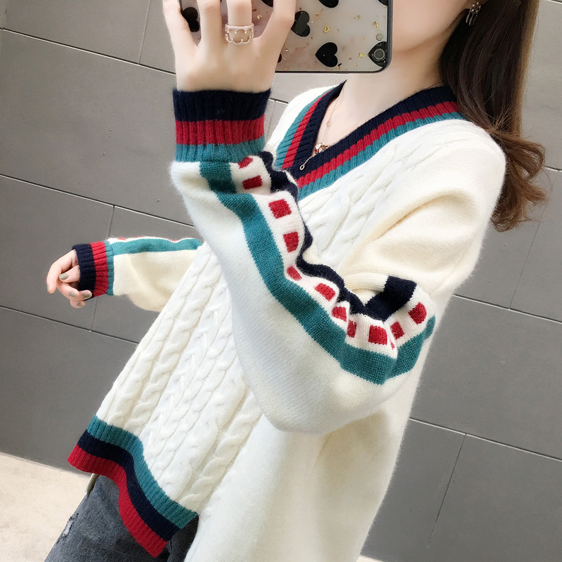 Long sweater 2020 new winter outer wear female Korean