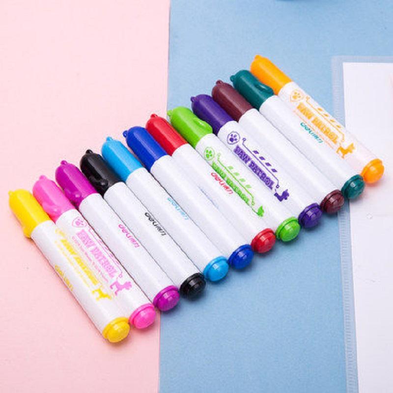 【得力】儿童可水洗水彩笔12色 免单0元购