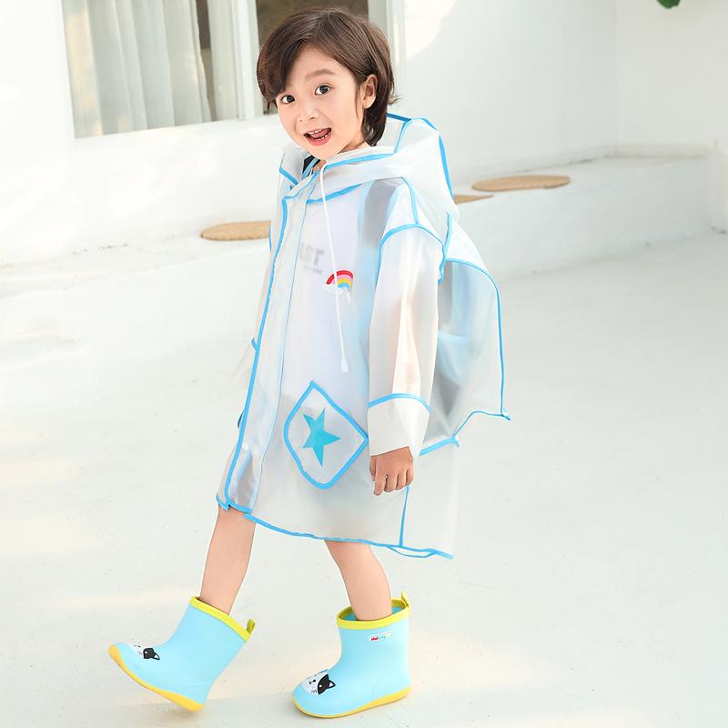 儿童雨衣幼儿园小学生男童女童小孩宝宝上学透明防水雨披