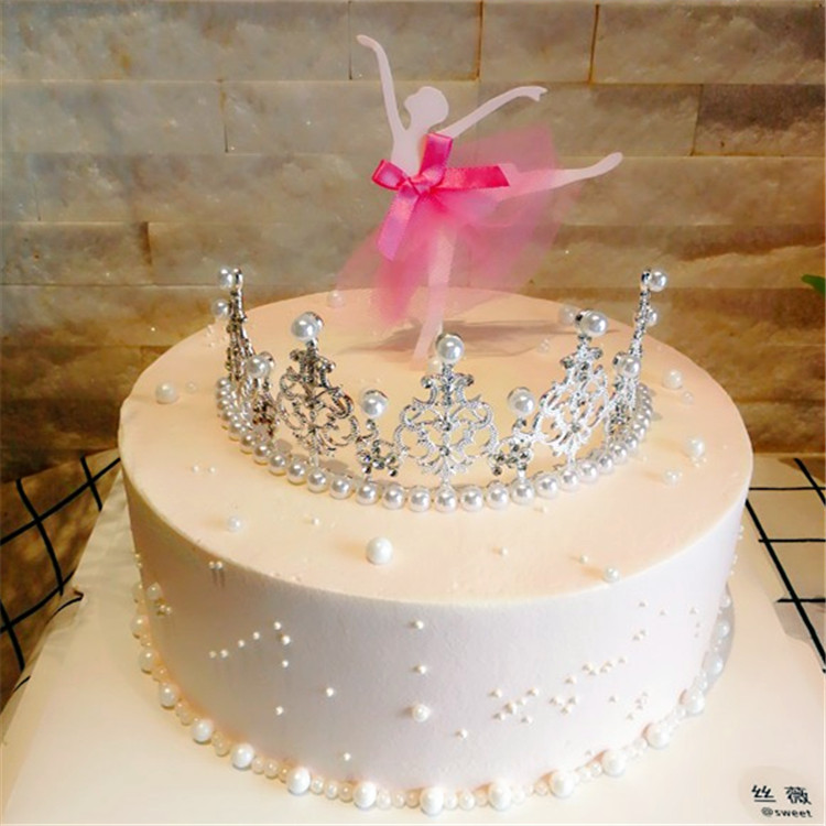Admirable Crown Cake Decorated Valentines Day Baking Decoration Slot Funny Birthday Cards Online Alyptdamsfinfo