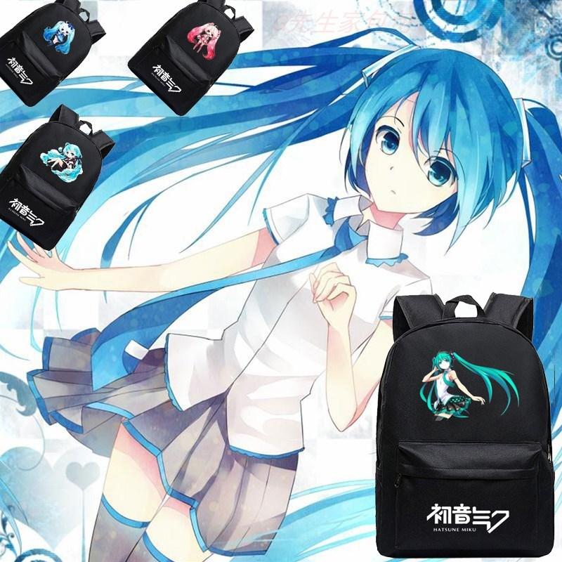 私人定制初音未来男女miku雪樱初音动漫周边背包书包双肩学生