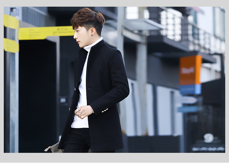 Winter 2020 new trend fashion men's hair coat in the long handsome male youth cotton coat 60 Online shopping Bangladesh