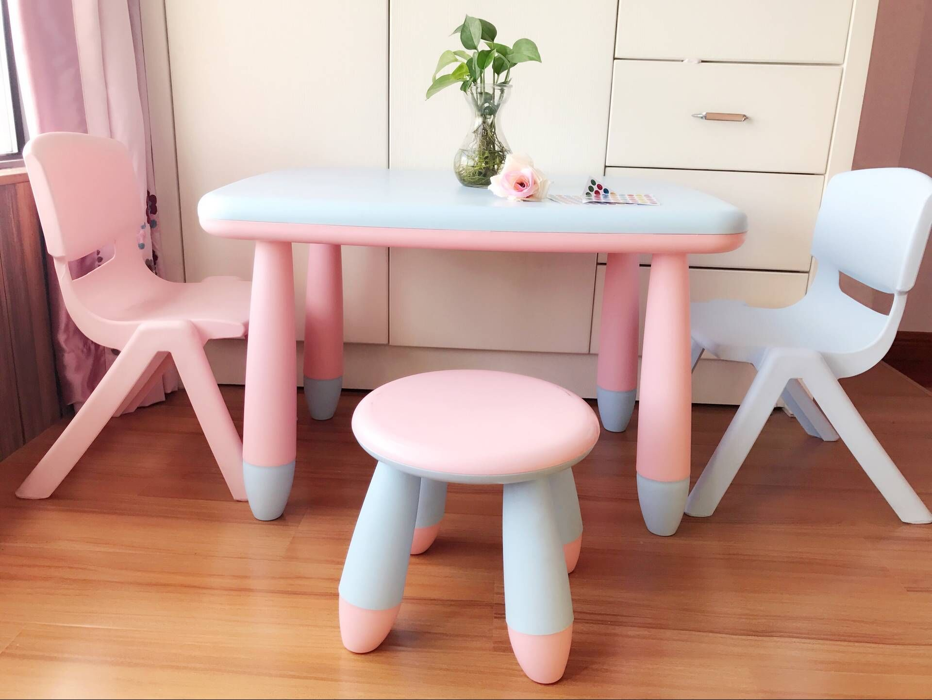 Kindergarten children table and chair set plastic table chair baby learning table childrenu0027s toy table thick removable & Kindergarten children table and chair set plastic table chair baby ...