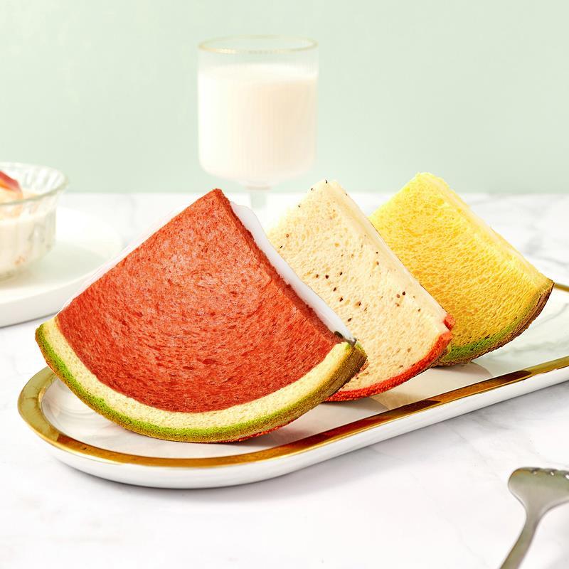 a1西瓜吐司面包早餐整箱网红零食孕妇儿童营养食品夹心蛋糕类小吃