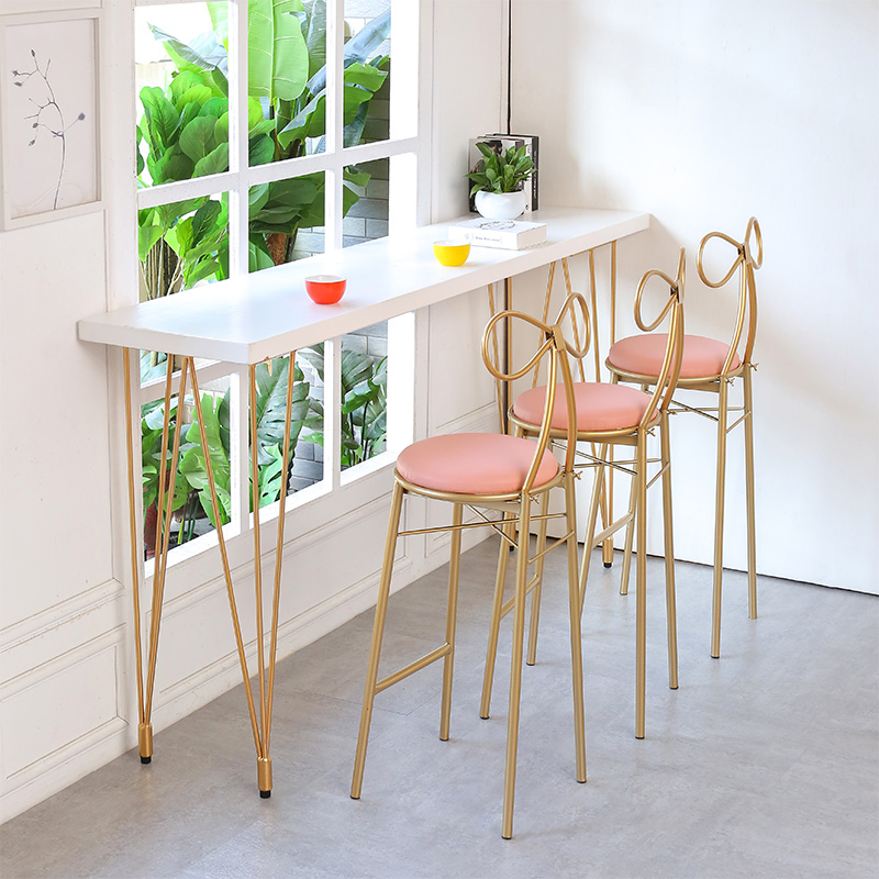 Nordic Leisure Iron Home Bar Table And Chairs Starbucks High Chair Simple  Solid Wood Bar Cafe ...