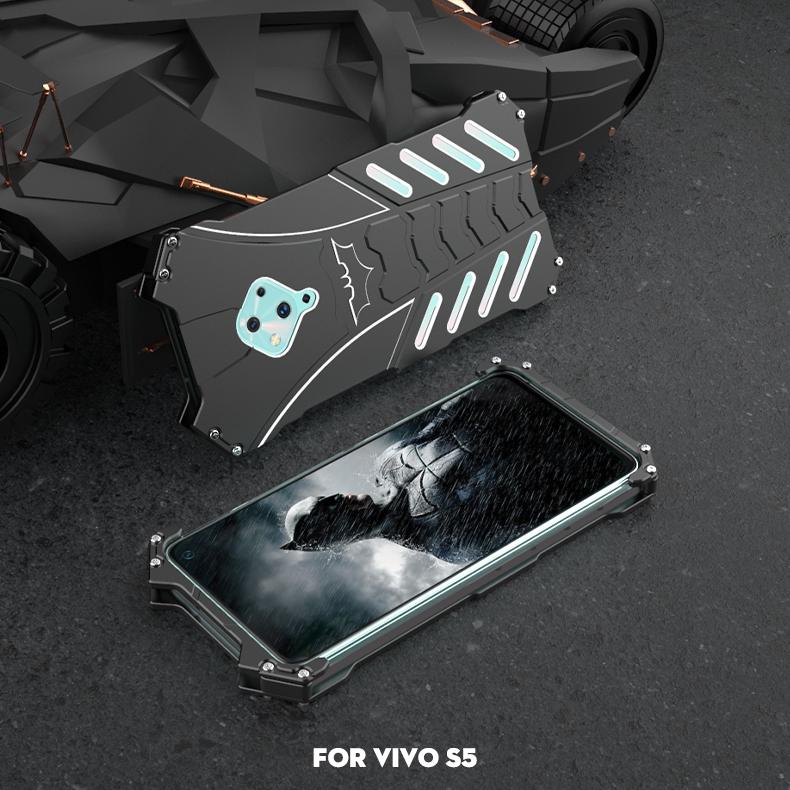 R-Just Batman Shockproof Aluminum Shell Metal Case with Custom Batarang Stent for vivo S5