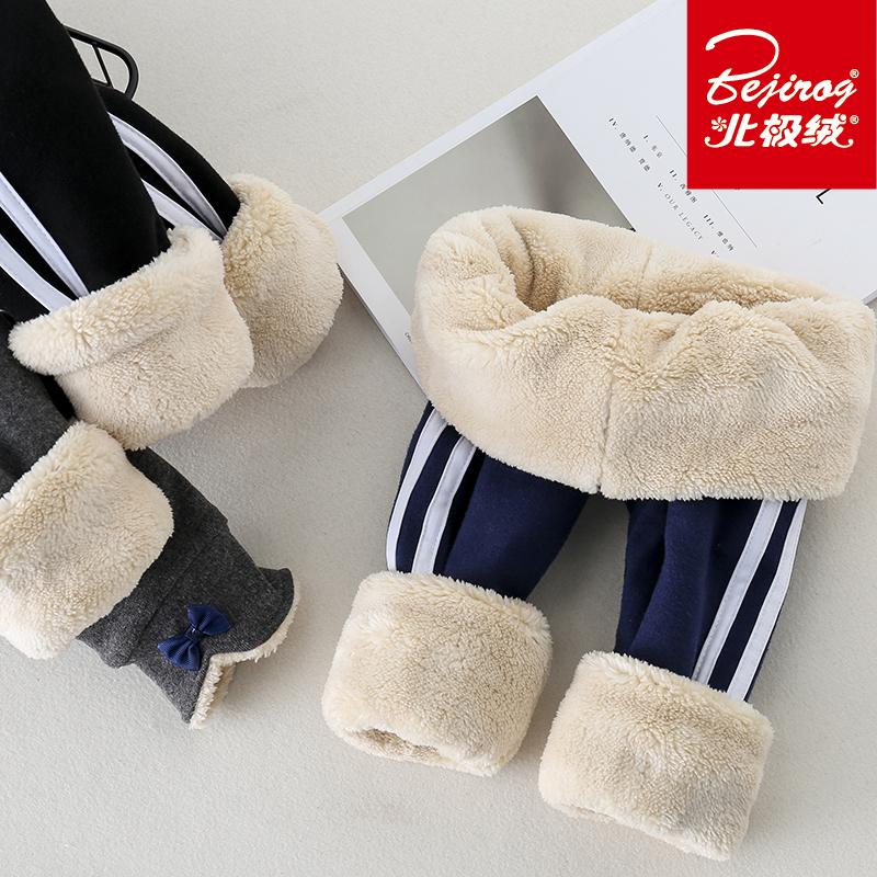女童加绒加厚打底裤三层特厚冬装外穿儿童北方冬季超厚保暖棉裤子