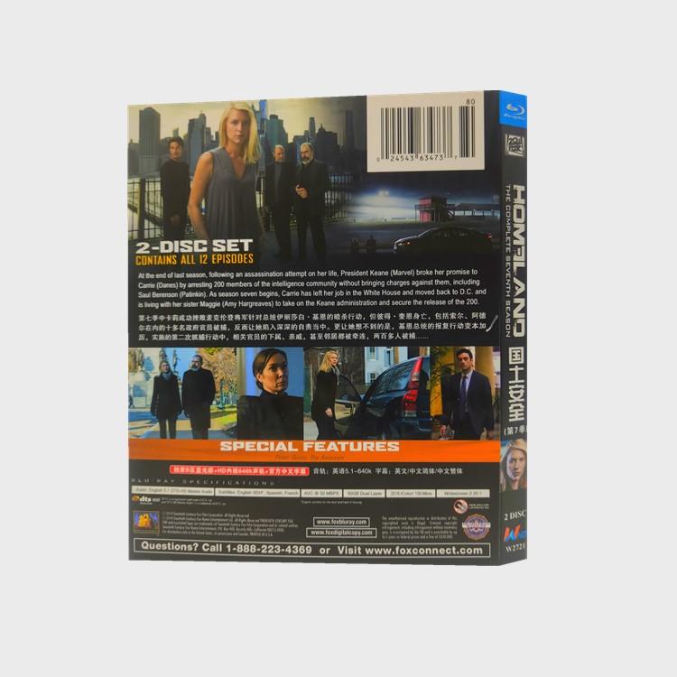☆炫彩影視☆BD藍光美劇 國土安全/Homeland 1080P超高清1-8季完整版全集