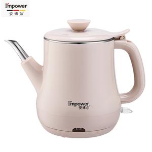 安博尔电热水壶家用便捷0.8L泡茶咖啡花茶壶不锈钢电烧水壶K023B