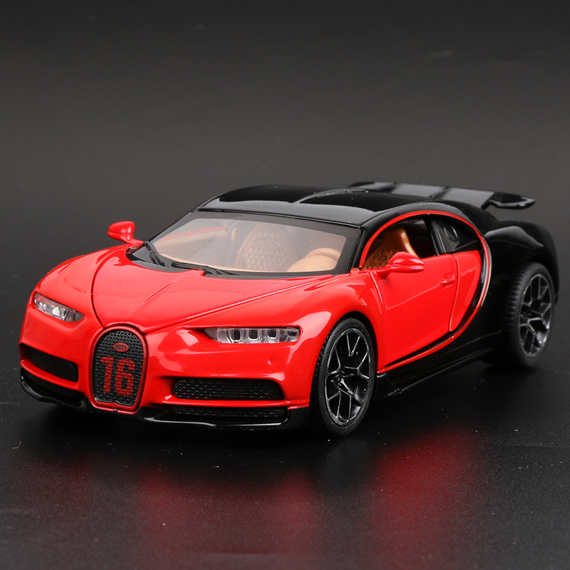 Bugatti Chiron Red Outline Tail Can Be Raised And Lowered